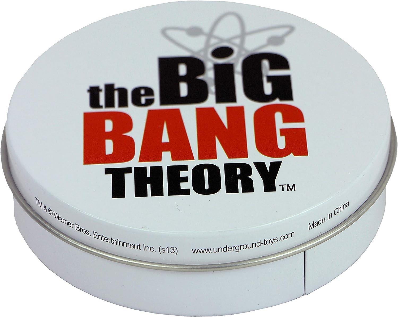 The Big Bang Theory - Juego de 4 posavasos de metal en lata, diseño de gatito y bazinga: Amazon.es: Hogar