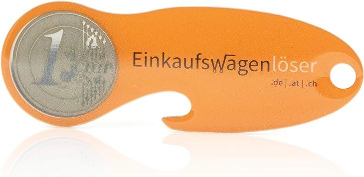 Code24 Einkaufswagenlöser Münze 10 X Schlüsselanhänger Mit Einkaufschip Profiltiefenmesser Schlüsselfinder Inkl Registriercode Für Schlüsselfundservice Einkaufswagenchips Orange Set Baumarkt