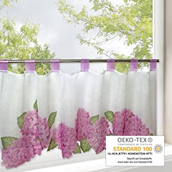 gardinenbox hortensias para cocina y de verano u cortina con diseo de flores