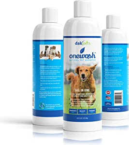 Natural Oatmeal Dog-Shampoo & Conditioner Wash   Veterinary Grade Formula Wash for Dogs Cats & Small Animals   Helps Hot Spots   Aloe for Allergies & Sensitive Skin   Relieve Dry, Itchy Skin