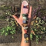 12 PCs Chakra Stone Healing Crystal Stone Kit Rough Gemstones Raw Healing Stones Set for Yoga, Meditation, Zen, Aura…