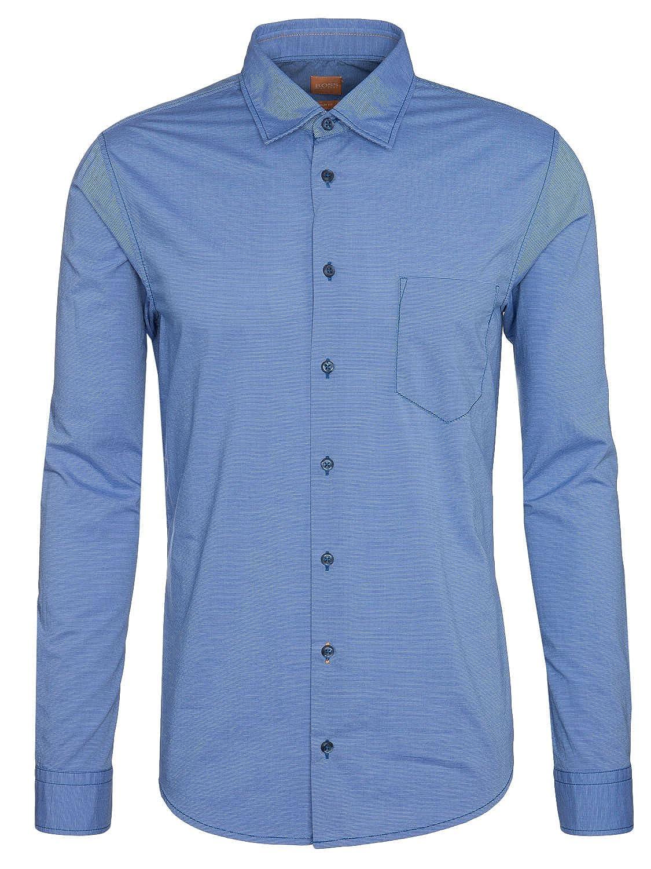 Hugo Boss Orange Slim Fit EnameE Shirt Turquoise