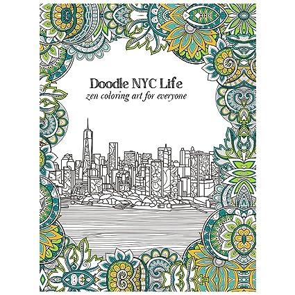 tree-free greetings libro de colorear para adultos: New York City ...