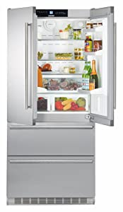 "CS2062 36"""" Energy Star Rated Freestanding French Door Refrigerator with 19.4 cu. ft. Total Capacity IceMaker DuoCooling and 2 Glass Refrigerator Shelves in Stainless Steel"