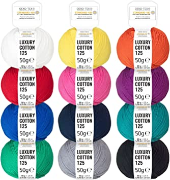 HANSA-FARM 100% algodón Mercerizado con Mezcla de Colores, 600g ...