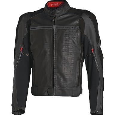 RICHA TG1 piel moto Moto Chaqueta nuevo hombre de abrigo: Amazon.es: Coche y moto