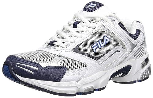 Fila - Zapatillas Deportivas para Hombre, Plateado (Metallic Plateado/Blanco/Fila Azul Marino), 10 D(M) US: Amazon.es: Zapatos y complementos