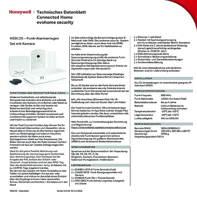 Honeywell HS912S Wireless Home Alarm Kit   White: Amazon.co.uk: DIY U0026 Tools
