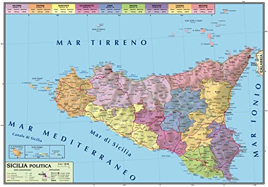 Regione Sicilia Cartina Politica.Carta Geografica Murale Sicilia 100x140 Bifacciale Fisica E Politica Amazon It Cancelleria E Prodotti Per Ufficio