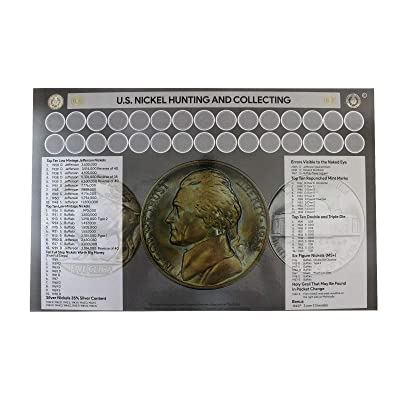 "U.S. Nickel Hunting and Collecting 11"" x 17"" Coin Roll Sorting Laminated Mat: Toys & Games"