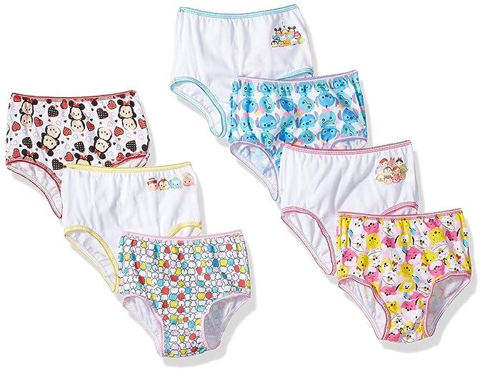 Disney Toddler Girls Tsum 7 Pack Underwear, Tsum Tsum Assorted Prints, 2T/