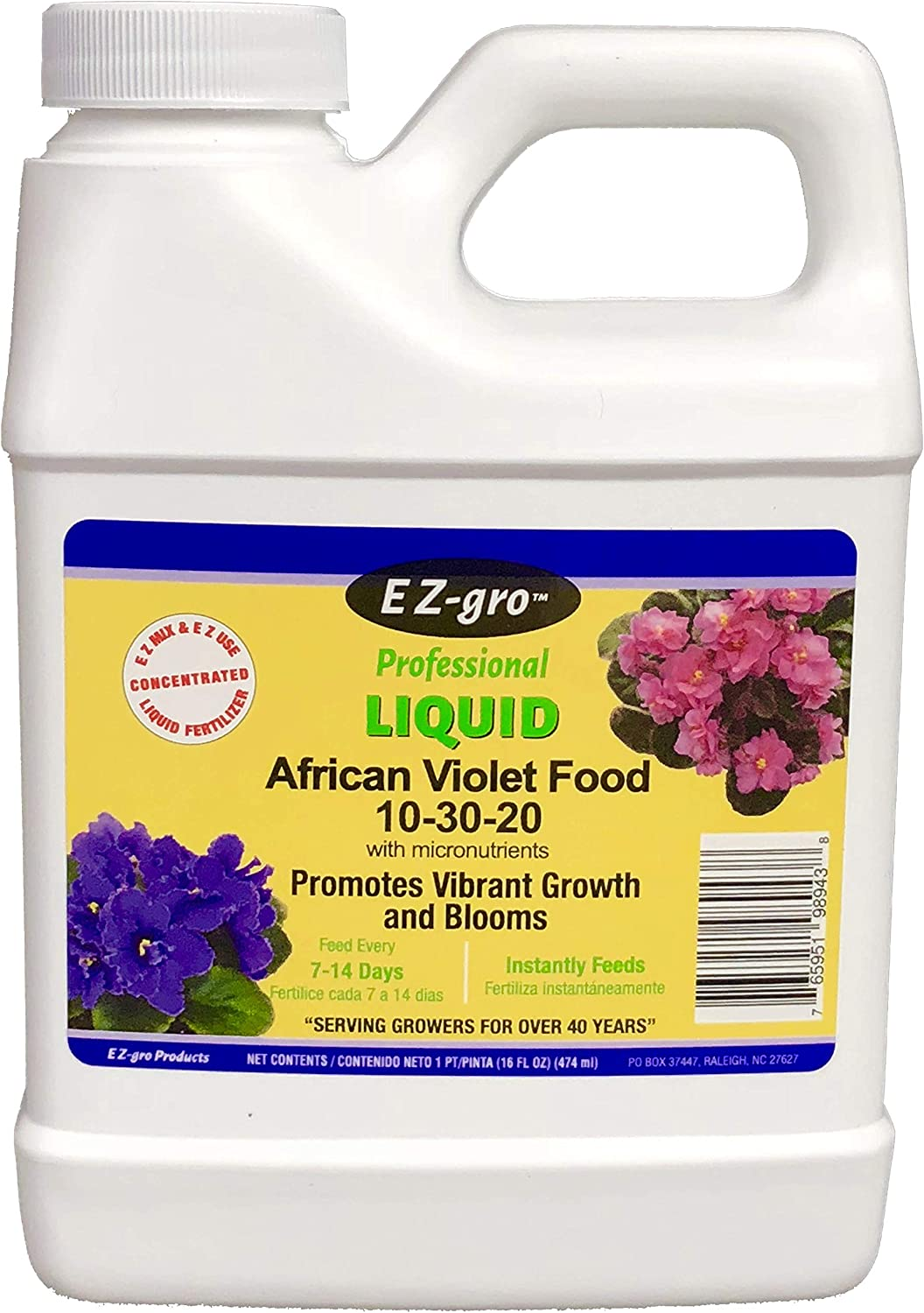 EZ-gro African Violet Food Our African Violet Fertilizer is Specially Formulated to Meet The Unique Needs of African Violets African Violet Plant Food is Urea Free | 16 oz