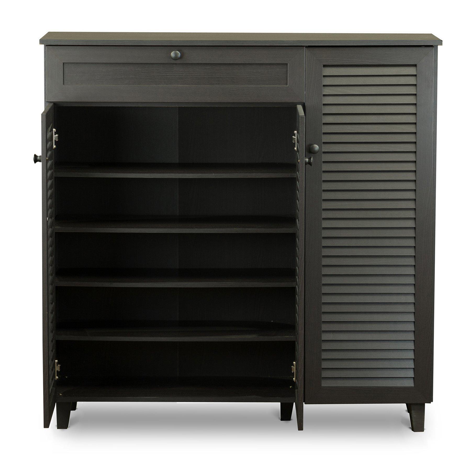 Baxton Studio Pocillo Wood Shoe Storage Cabinet, Brown by Baxton Studio (Image #4)