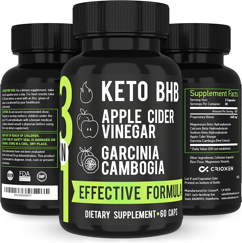 Amazon Com Potent Keto Bhb Salts Apple Cider Vinegar Raw Acv