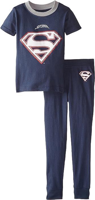 Intimo Little Boys DC Comics Superman Football Pajamas Intimo Boys 2-7 019243T