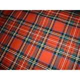 Royal Stewart - 100%  coton brossé en tissu Tartan-Largeur 150 cm-au mètre