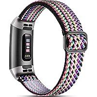 Dirrelo Elastische band, compatibel met Fitbit Charge 3 Strap/Fitbit Charge 4 Strap, zacht verstelbare elastische…
