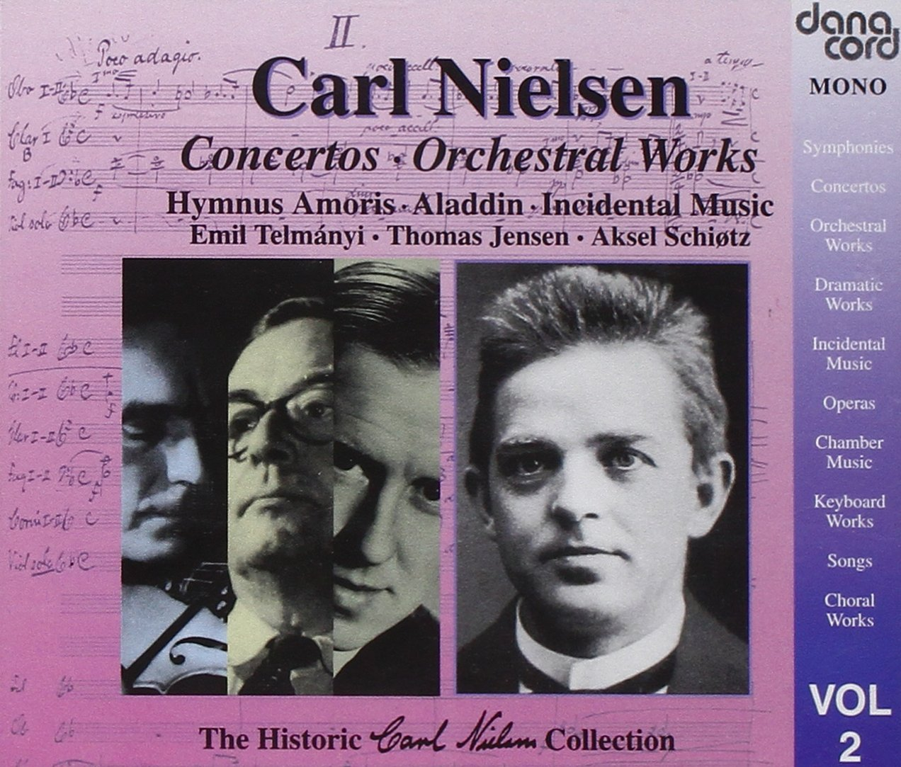 The Historic Carl Nielsen Collection, Vol. 2: Concertos / Orchestral Works by Danacord