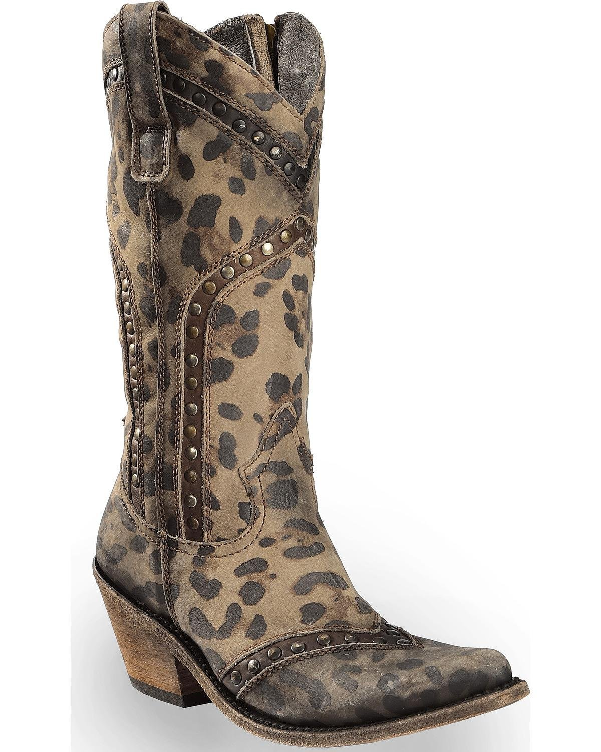 Liberty Black Women's Chita T-Moro Western Boot Pointed Toe Cheetah 8.5 M