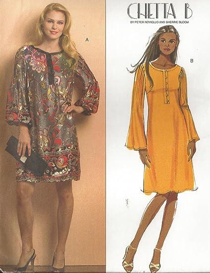 Amazon Butterick Chetta B Sewing Pattern B40 Designer Bell Fascinating Bell Sleeve Dress Pattern