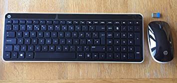 HP C6020 - Teclado inalámbrico para escritorio y ratón (inglés ...