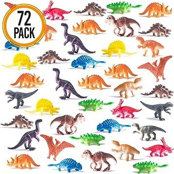 Caja de Mini Dinosaurios Prextex (72 Unidades) Estupendos para ...