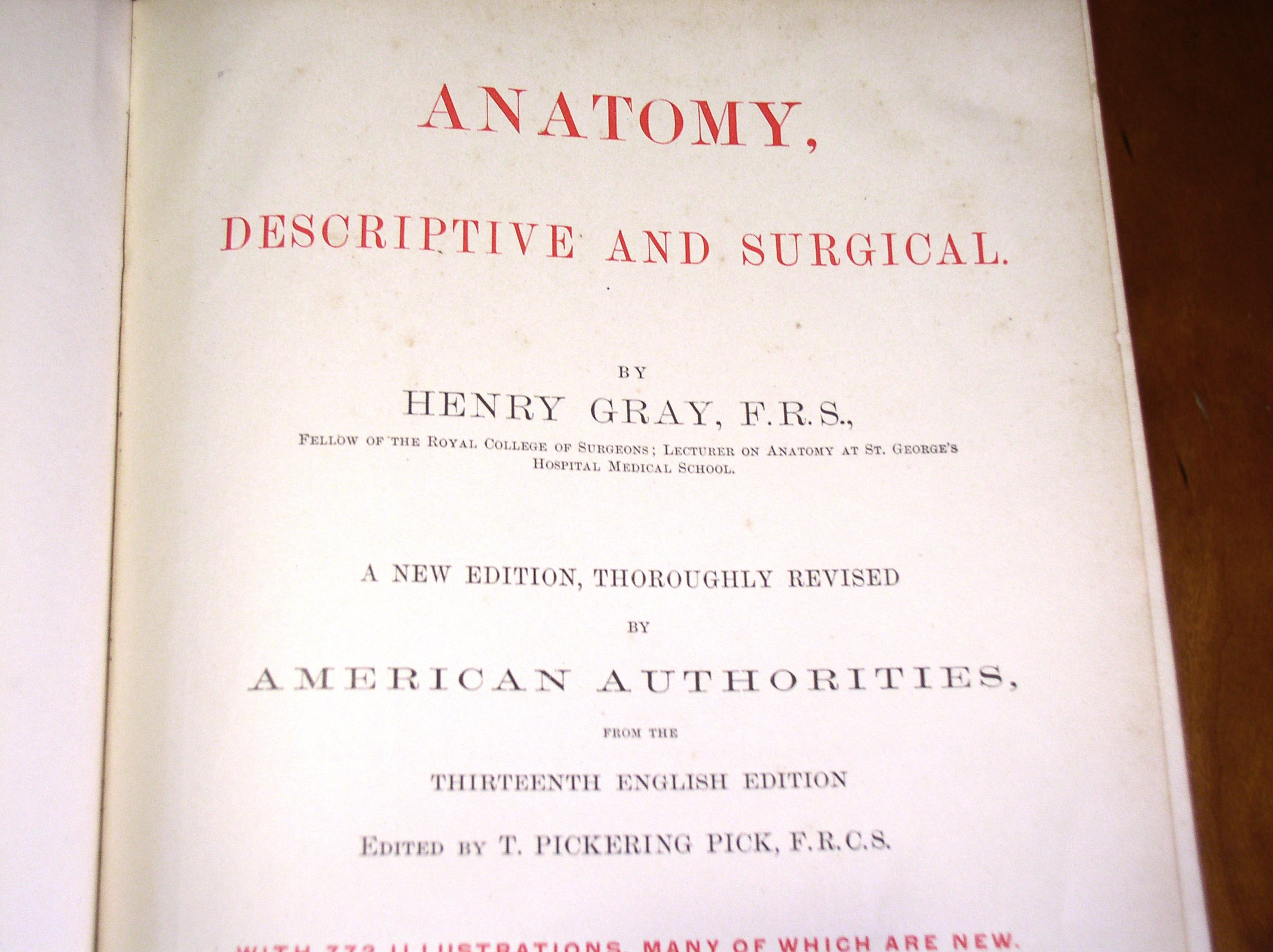 Gray\'s Anatomy Descriptive and Surgical New American Edition ...