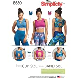 Simplicity Pattern 8560 Misses' Knit Sports Bras SEWING PATTERN, Sizes 30A-44G