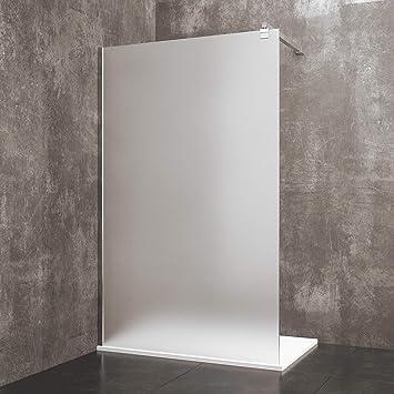 Mampara de ducha fija Walk de madera de seda, cabina de baño con ...