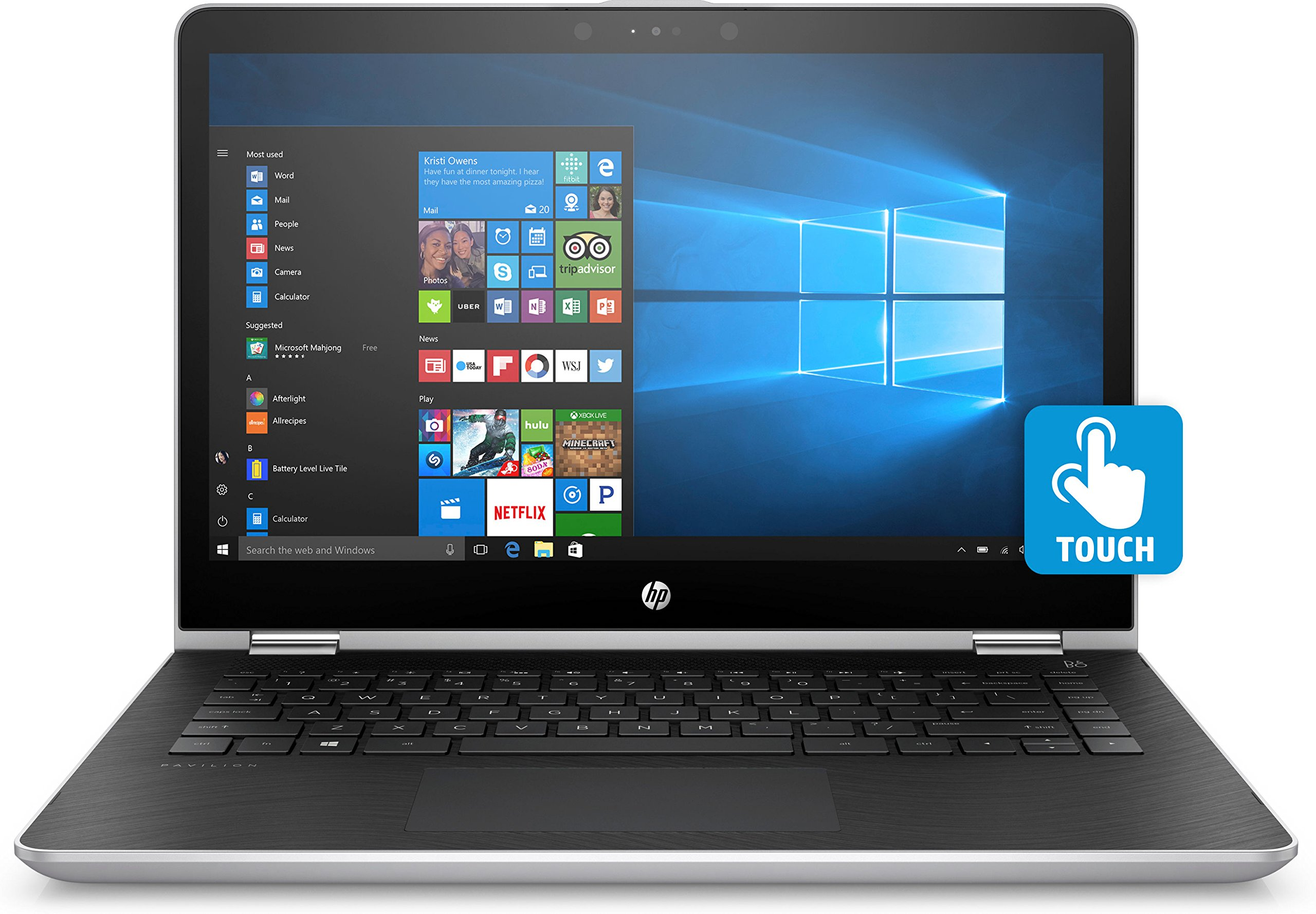 Hp Pavillion X360 14 Ba051sa 14 Inch Full Hd Convertible Laptop Intel I3 7100u 128gb Ssd 4gb Ram Windows 10 Silver Buy Online In Bahamas Pavillionintelintel Products