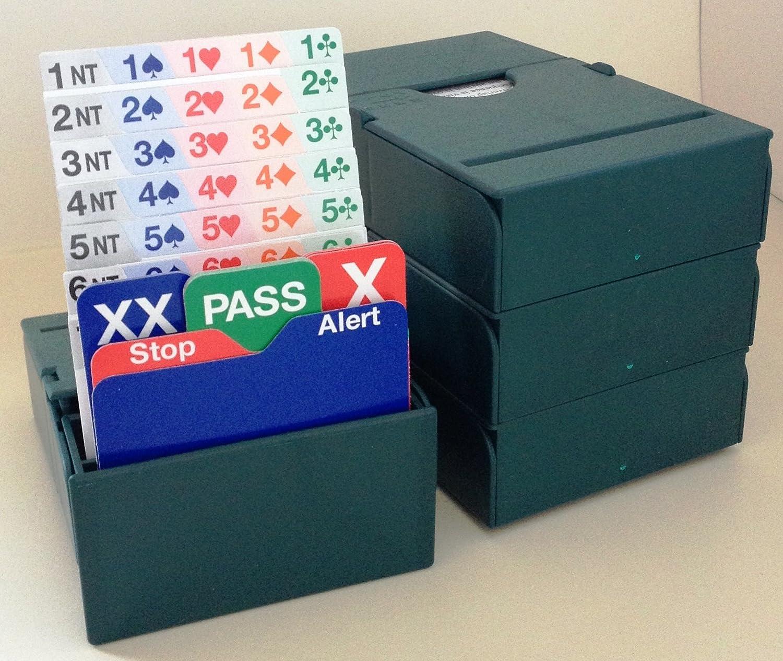 4 Sets of 4 Bridge Bidding Boxes Green Bid Buddy