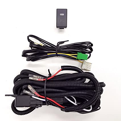 amazon com: ledin h3 12v 30a fog light wiring harness relay kit on/off led  switch 2 plugs wire: automotive
