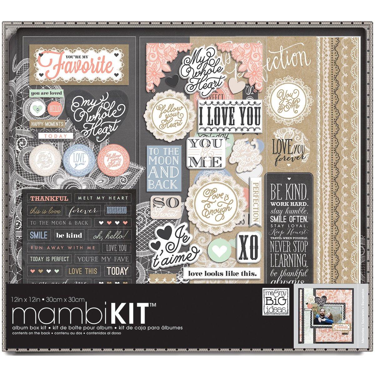 me & my BIG ideas Lacey Charm Album Box Kit, 12-Inch by 12-Inch by Me & My Big Ideas
