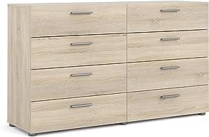 Tvilum 8 Drawer Double Dresser, Oak Structure