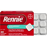 Rennie  Indigestion and Heartburn Relief Spearmint - 96 Chewable Tablets
