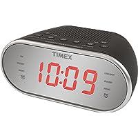 "Timex Am/FM Dual Alarm Clock Radio with Digital Tuning 1.2"" Red LED Display and Line-In Jack Radio Alarm Clock Black…"