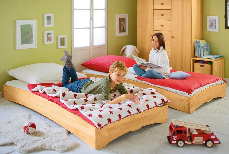 BioKinder 22132 Leandro Spar-Set Kinderbett Stapelbett aus Massivholz 90 x 200 cm 2 Stück