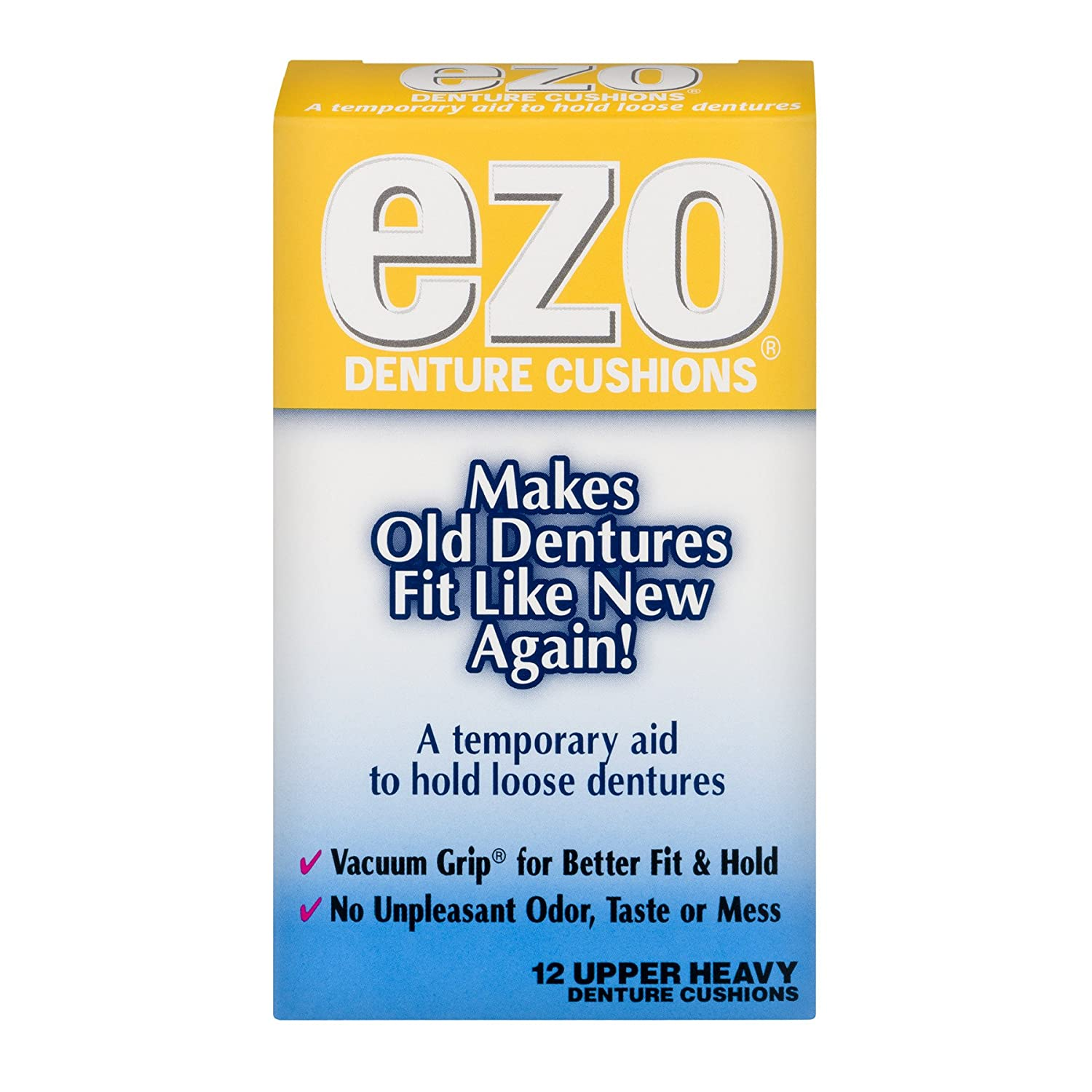 EZO Denture Cushions, Upper Heavy - 12 ct MED TECH PRODUCTS