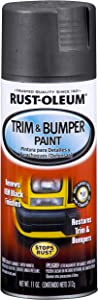 Rust-Oleum Black, Matte BlackRust-Oleum Automotive 251574 11-Ounce Trim and Bumper Spray