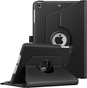 Fintie Rotating Case for iPad Mini 3/2 / 1-360 Degree Rotating Smart Stand Protective Cover with Auto Sleep/Wake for iPad Mini 1 / iPad Mini 2 / iPad Mini 3, Black