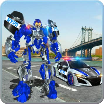Police Car Robot War: Police Games - Do Police Chase in Cop Car as NY City  Police Officer of Real Robot Games  Best Muscle Car Robot Transformation in