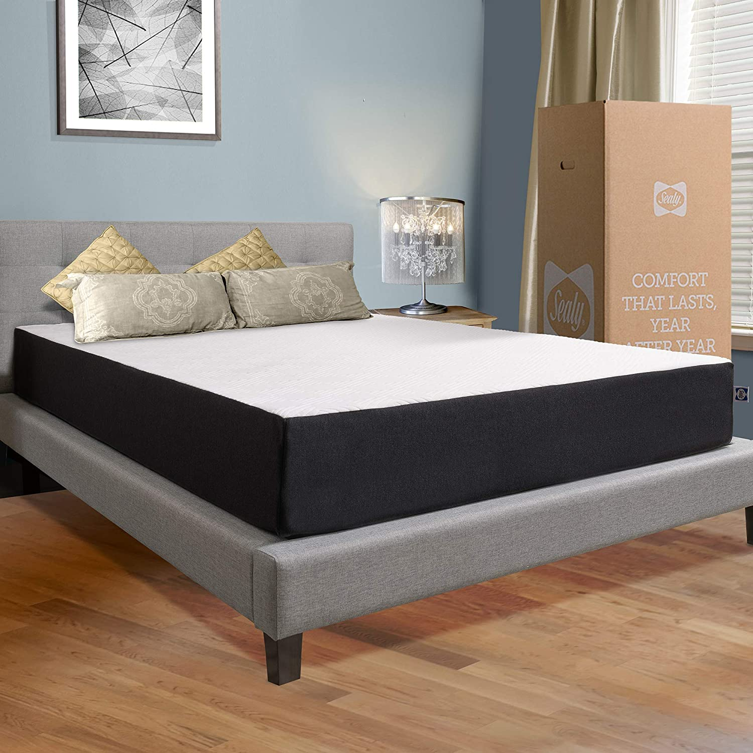 Sealy 10-Inch Hybrid Bed in a Box, Medium-Firm, Queen