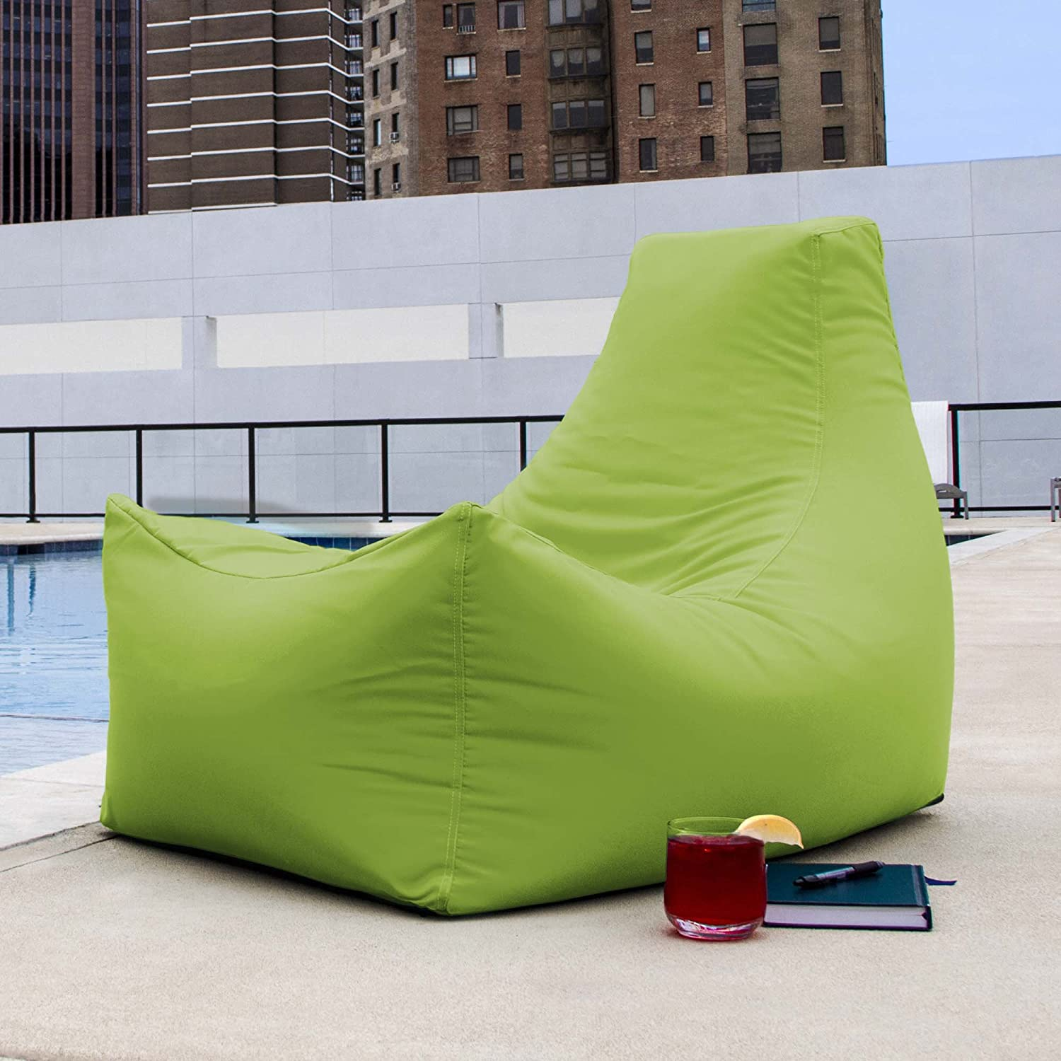 Amazon Jaxx Outdoor Juniper Bean Bag Chair Lime Green