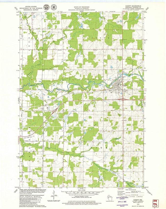 Amazon.com: Wisconsin Maps | 1979 Cadott, WI USGS Historical ... on east troy wi map, appleton wi map, milwaukee wi map, menomonie wi map, cedarburg wi map, wausau wi map, oshkosh wi map, sarona wi map, cornell wi map, minocqua wi map, shawano wi map, sheboygan wi map, racine wi map, trade lake wi map, nekoosa wi map, cudahy wi map, janesville wi map, wisconsin wi map, colby wi map, menasha wi map,