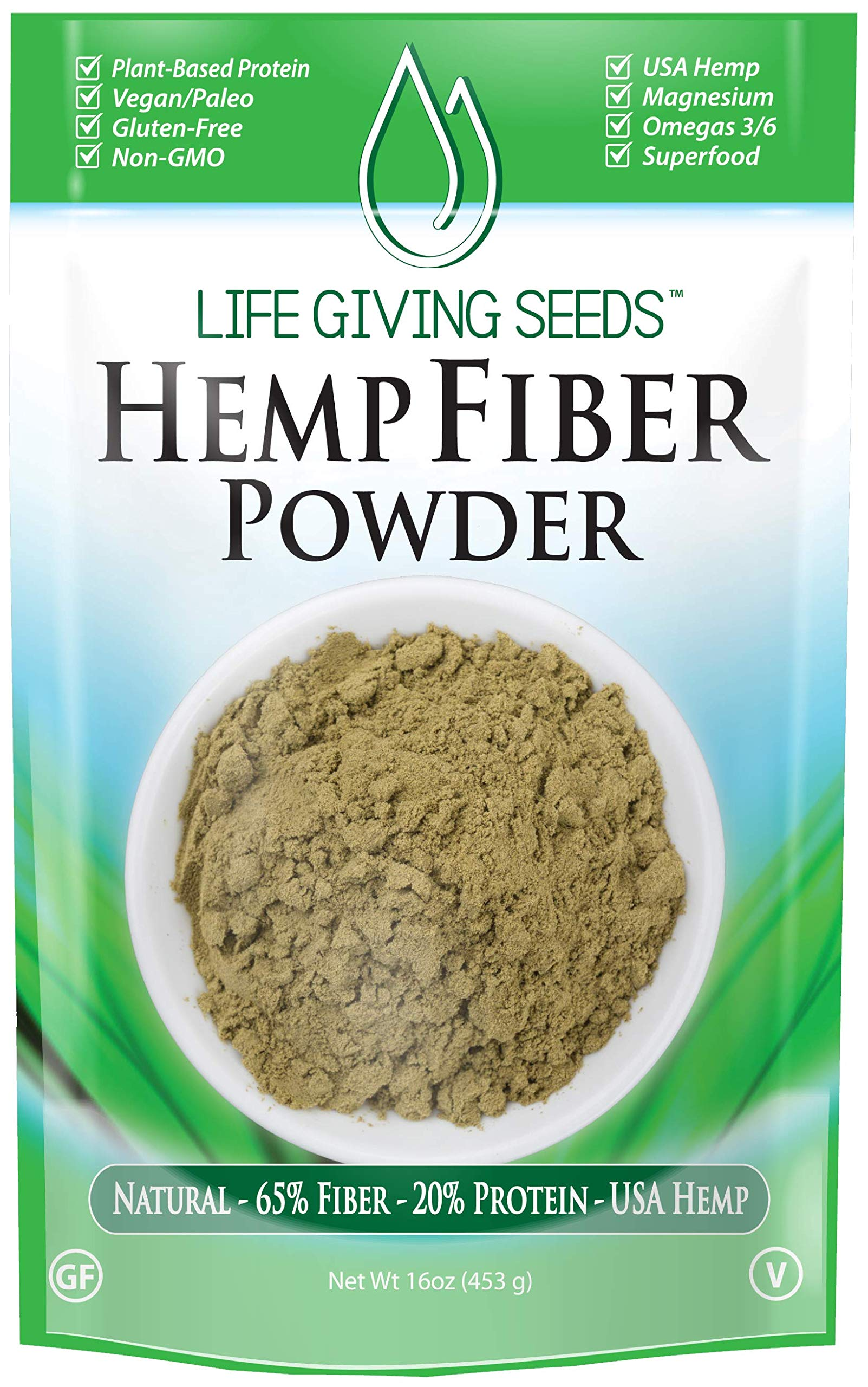 USA Hemp Protein High Fiber Powder 16oz | Plant Based | Superfood | non GMO | USA
