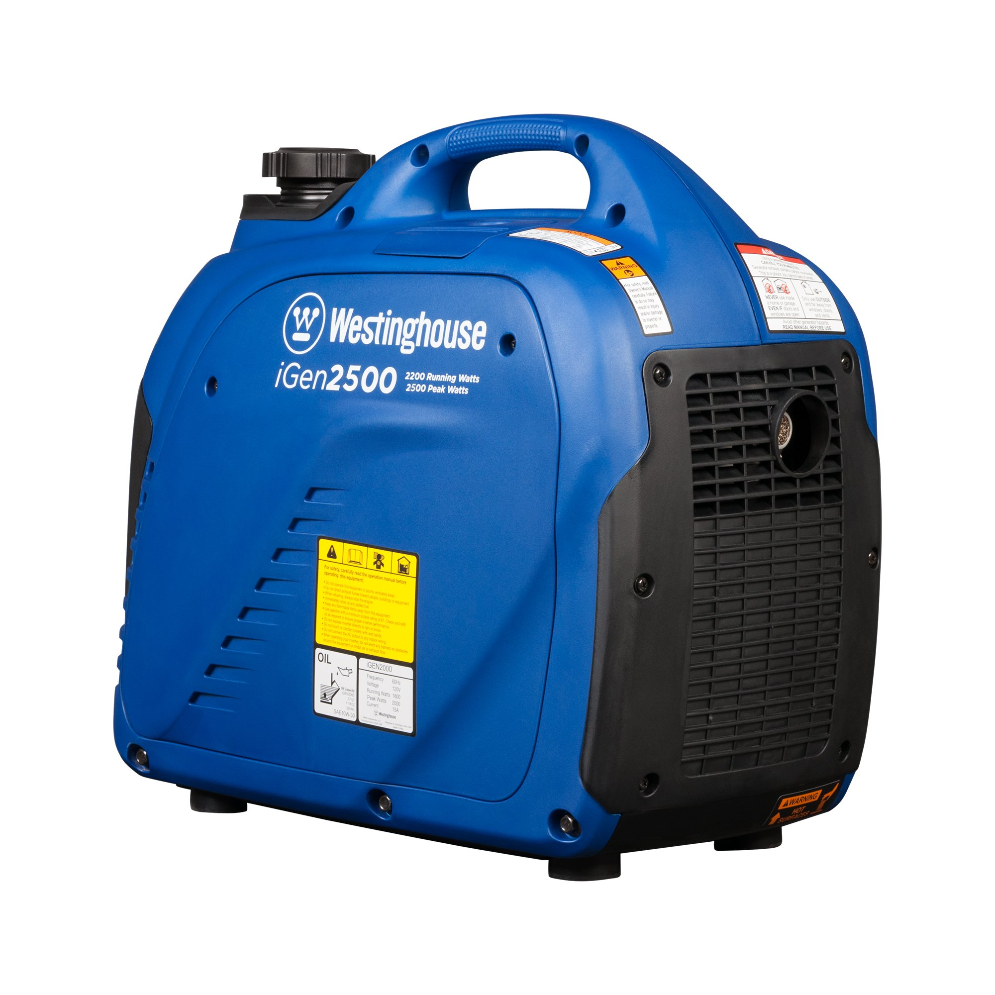 Westinghouse iGen2500 Portable Inverter Generator - 2200 Rated Watts & 2500 Peak Watts - Gas Powered - CARB Compliant by Westinghouse (Image #1)