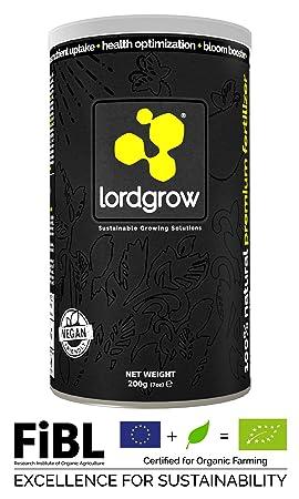 Lordgrow 200g/120L - Bioestimulante 100% ecológico. Incrementa el Co2 en Las Plantas