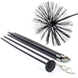13 Piece 9M Drain Rods Set Plumbing Drainage Cleaning Set Worm Screw Plunger & Chimney Brush