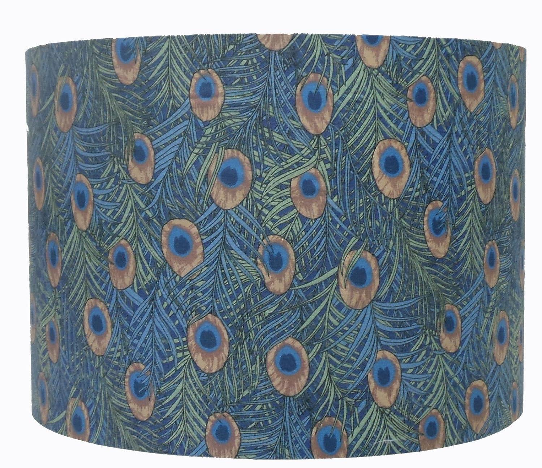 Plume de paon à motifs Abat-jour, Bleu/vert (16 Kushade