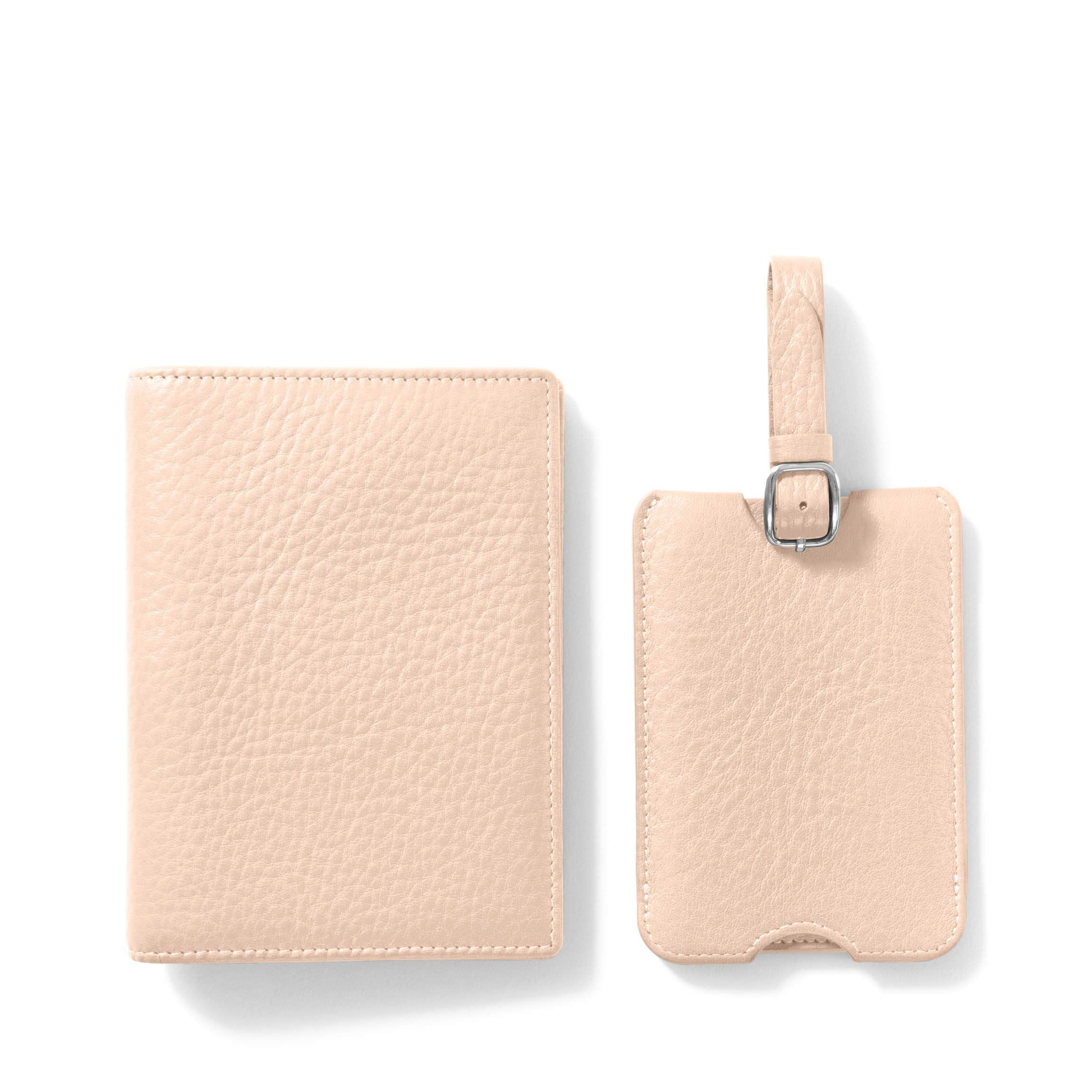 Leatherology Rose Deluxe Passport Cover + Luggage Tag Set